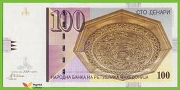 Voyo MACEDONIA 100 Denari 2004 P16e B208e ГД(GD) UNC Skopje - Macedonia