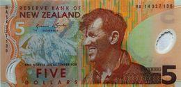 NEW ZEALAND 5 DOLLARS ND (2014) P-185c UNC [NZ131g] - New Zealand