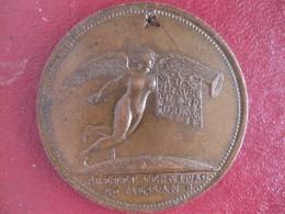 Médaille Consulat, Bonaparte, Colonne à Lyon An 8 ,1799, Préfet Verninac, Dept. Du Rhône - Unclassified