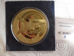 Aviation Médaille, Adieu Au Concorde, Dernier Vol New-York / Paris 2003, Avec Certificat. - France