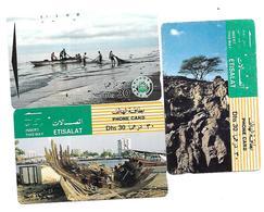 @+ EAU - Lot De 3 Cartes Anciennes (type Tamura) - Emirats Arabes Unis