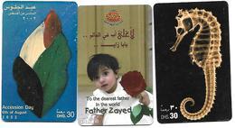 @+ EAU - Lot De 3 Cartes Recharges (lot 2) - Emirats Arabes Unis