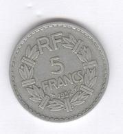 5 Francs France Lavrillier 1952 - TTB - J. 5 Francs