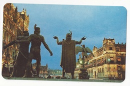 Mexico City Monument Statues Of The Founders Of Tenochtitlan Vintage Postcard - Mexico