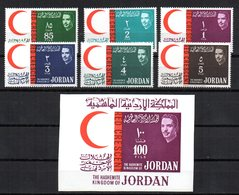 Serie Nº 396/401 + Hb7 Jordania Croix Rouge. - Jordania