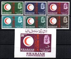 Serie Nº 21/6 + Hb-2 Sharjah  Croix Rouge. - Sharjah