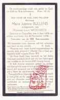 DP Maria J. Bullens ° Kapellen 1872 † 1934 X Leon Wesenbeek - Devotion Images