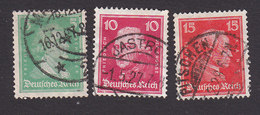 Germany, Scott #353b, 355-356, Used, Famous Germans, Issued 1926 - Germany