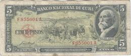 Cuba 5 Pesos 1958 Pk 91 A Ref 609-5 - Cuba
