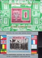 Olympiade Mexiko 1968 Filipinas Block I+III ** 18€ US-Präsident Kennedy Bloc Philatelic Olympic Sheets Bf Pilipinas - Philippines