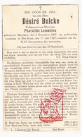 DP Désiré Bulcke ° Merkem Houthulst 1867 † St.-Kruis Brugge 1937 X Pharaïlde LeMahieu - Devotion Images