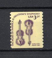 Stati Uniti - USA :  Violini  3,50 Cent. Dentellato 10 Verticale  1 Val.  MNH**   23.06.1980 - Unused Stamps