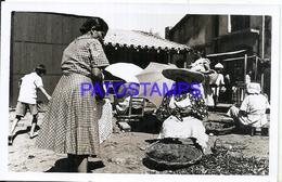 95162 PARAGUAY ASUNCION COSTUMES NATIVE MARKET PHOTO NO POSTAL POSTCARD - Paraguay