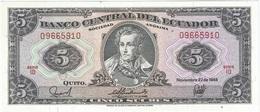 Ecuador 5 Sucres 22-11-1988 Pick 113d ID UNC - Ecuador