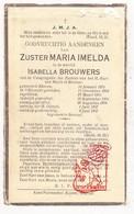DP EZ Isabella Brouwers - Zr. Imelda ° Ekeren 1874 † 1937 / Begr. Beersel - Devotion Images