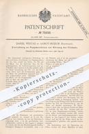 Original Patent - Daniel Westad , Aamot - Modum , Norwegen , 1893 , Pappmaschine | Karton , Papier , Pappe , Walze !!! - Historische Dokumente