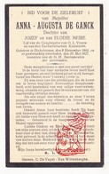 DP Anna Aug. De Ganck / Meire 23j. ° Dikkelvenne Gavere 1903 † 1927 - Devotion Images
