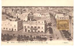 POSTAL  SFAX- TUNEZ  -PANORAMA PRIS DE LA TOUR DE L'HÔTEL DE LA VILLE ( PANORAMA TOMADO DESDE EL HOTEL DE LA CIUDAD) - Túnez