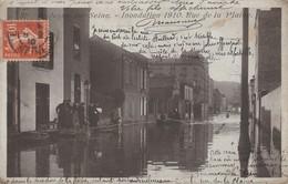 92 - BOULOGNE SUR SEINE - Inondation 1910 Rue De La Plaine - Boulogne Billancourt