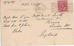 Canada & Marcofilia, Purcell's Cove, Nova Scotia, Halifax, London  England 1907 (906) - 1903-1908 Reign Of Edward VII