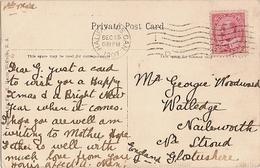 Canada & Marcofilia, The Old Church, Grand Pre, N.S., Halifax, Stroud, Nailsworth, England 1907 (1688) - 1903-1908 Reign Of Edward VII
