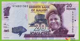 Voyo MALAWI 20 Kwacha 2015 P63b B158b AY UNC Education - Malawi