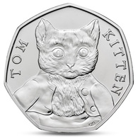 GREAT BRITAIN UK  50 PENCE BEATRIX POTTER TOM KITTEN 2017 UNC - 1971-… : Decimal Coins