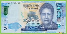Voyo MALAWI 200 Kwacha 2016 P60c B161b AL UNC Politics - Malawi