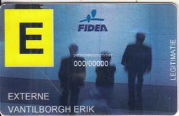 BELGIUM - Fidea Insurances(KBC Group), Member Card, Used - Unclassified