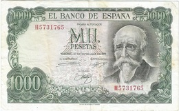 España - Spain 1.000 Pesetas 17-9-1971 Pick 154 SERIE H Ref 1738 - [ 3] 1936-1975 : Regency Of Franco