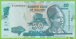 Voyo MALAWI 50 Kwacha 2015 P64b B157b AT UNC Elephant - Malawi