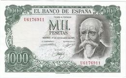 España - Spain 1.000 Pesetas 17-9-1971 Pick 154 SERIE U Ref 1739 - [ 3] 1936-1975 : Regency Of Franco