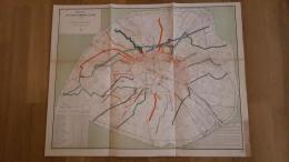 PLAN RECETTES DES LIGNES D'OMNIBUS DE PARIS EN 1880  PARFAIT ETAT  69 X 54 CM - Autres
