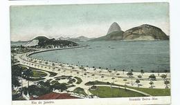 Brazil Postcard Rio De Janeiro  Avenida Beira-mar. Unused Vintage - Rio De Janeiro