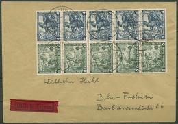 Deutsches Reich 1933 Nothilfe Wagner Heftchenblatt H-Blatt 79 Eilbrief (T16779) - Se-Tenant