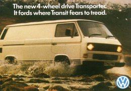 Volkswagen Transporter 4WD Van    -  CPM - Camions & Poids Lourds