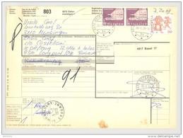 Bulletin D'Expédition - Schweiz / Suisse - Cachet Ostermundigen Et MontlHhery - 79 - Aff. 7.20Fr - Brieven En Documenten