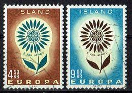 Island 1964 // Mi. 385/386 O (024..641) - 1944-... Republik