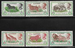 Ethiopia, Scott # 369-74 Mint Hinged Animals, 1961 - Ethiopia
