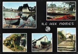 56 L'Ile Aux Moines Le Port Et Les Petites Rues Divers Aspects (2 Scans) - Ile Aux Moines