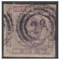 DANEMARK -- 16S GRIS/VIOLET NR STEMPEL 28 -HOLBEK -- - 1851-63 (Frederik VII)