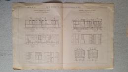 RARE REVUE TECHNIQUE DE L'EXPOSITION UNIVERSELLE DE 1889 LES CHEMINS DE FER COMPAGNIE FRANCAISE FORMAT  54.50 X 36 CM - Machines