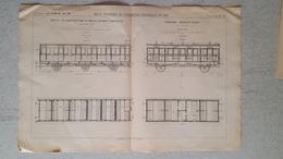 RARE REVUE TECHNIQUE DE L'EXPOSITION UNIVERSELLE DE 1889 LES CHEMINS DE FER  VOITURE MIXTE ET AAL  FORMAT  54.50 X 36 CM - Maschinen
