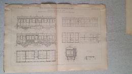 RARE REVUE TECHNIQUE DE L'EXPOSITION UNIVERSELLE DE 1889 LES CHEMINS DE FER   VOITURE 1ERE CLASSE FORMAT  54.50 X 36 CM - Machines
