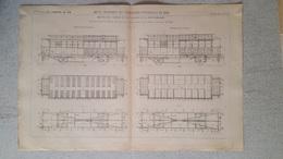 RARE REVUE TECHNIQUE DE L'EXPOSITION UNIVERSELLE DE 1889 LES CHEMINS DE FER  VOITURE  2 -3  CLASSE FORMAT  54.50 X 36 CM - Máquinas