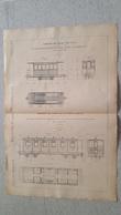 RARE REVUE TECHNIQUE DE L'EXPOSITION UNIVERSELLE DE 1889 LES CHEMINS DE FER  LA BUIRE  FORMAT  54.50 X 36 CM - Maschinen