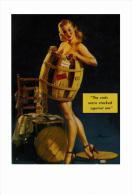 Pin Ups Of GIL ELVGREN Postcard RPPC - (37) The Cads Were Stacked Against Me, 1948 - Size 15x10 Cm.aprox. - Pin-Ups