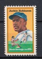 Stati Uniti - USA :  Jackie Robinson Campione Di Baseball  -  1 Val.  MNH**   2.08.1982 - Unused Stamps