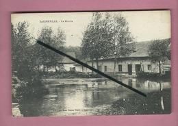 CPA Abîmée   - Saigneville -  Le Moulin  -  ( Mare ) - France