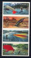 CANADA - 2132/2135** - PÊCHE A LA MOUCHE ARTIFICIELLE - Unused Stamps